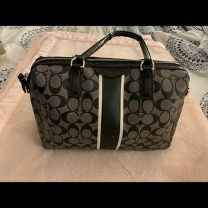 Coated Canvas Authentic Coach Purse
